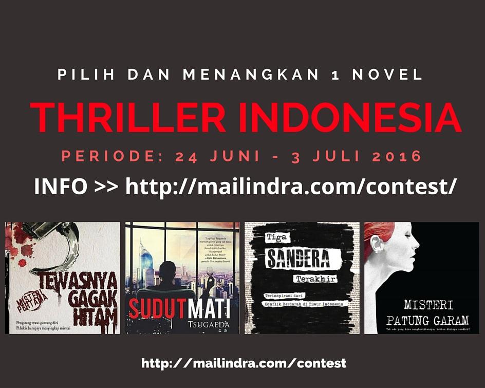Kontes berhadiah novel thriller Indonesia