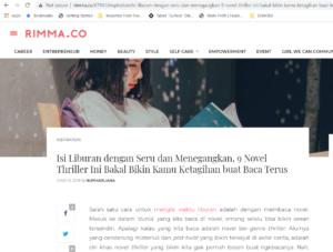 Rimma.co: 9 Novel Thriller Seru